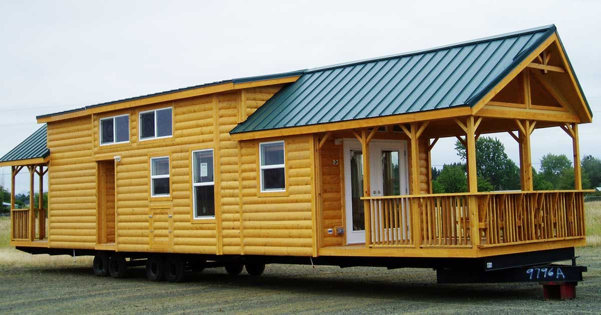 The Cascade Lodge A Portable Park Model Log Cabin With